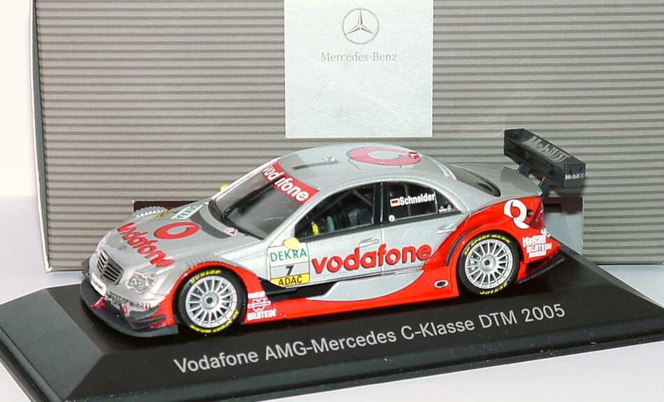 Foto 1:43 Mercedes-Benz C-Klasse DTM 2005 Vodafone Nr.7, Schneider Werbemodell Minichamps B66962231