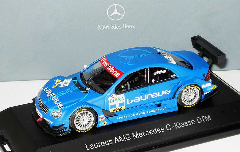 Foto 1:43 Mercedes-Benz C-Klasse (W203) DTM 2007 Laureus Nr.9, Gary Paffett Werbemodell Minichamps B66962277