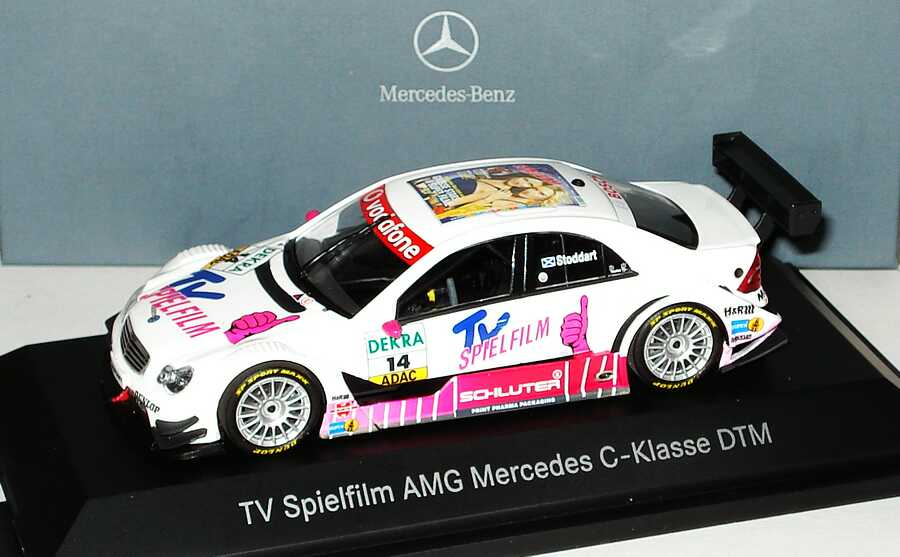Foto 1:43 Mercedes-Benz C-Klasse (W203) DTM 2007 TV  Spielfilm Nr.14, Susi Stoddart Werbemodell Minichamps B66962279