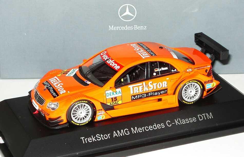 Foto 1:43 Mercedes-Benz C-Klasse (W203) DTM 2007 TrekStor Nr.15, Daniel la Rosa Werbemodell Minichamps B66962280
