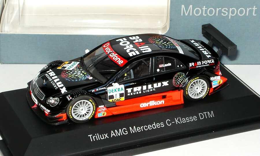 Foto 1:43 Mercedes-Benz C-Klasse (W203) DTM 2007 Trilux Nr.18, Lauda Werbemodell Minichamps B66962281