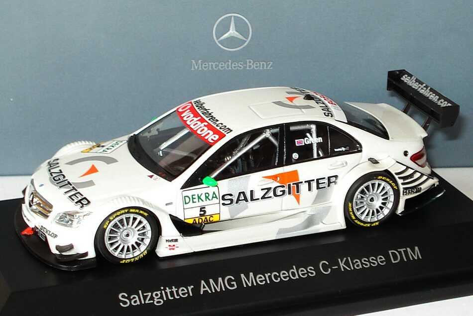 Foto 1:43 Mercedes-Benz C-Klasse (W204) DTM 2007 Salzgitter, AMG Nr.5, Jamie Green Werbemodell Minichamps B66962275