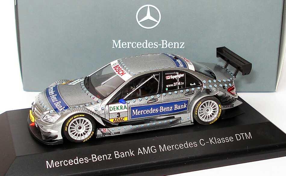 Foto 1:43 Mercedes-Benz C-Klasse (W204) DTM 2008 Mercedes-Benz Bank, AMG Nr.3, Bruno Spengler Werbemodell Minichamps B66962291