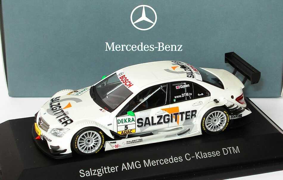 Foto 1:43 Mercedes-Benz C-Klasse (W204) DTM 2008 Salzgitter, AMG Nr.5, Jamie Green Werbemodell Minichamps B66962292