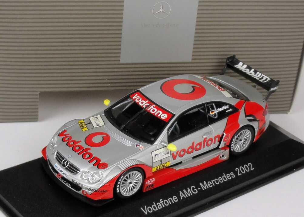 Foto 1:43 Mercedes-Benz CLK DTM 2002 Vodafone Nr.1, Schneider Werbemodell Minichamps B66961958