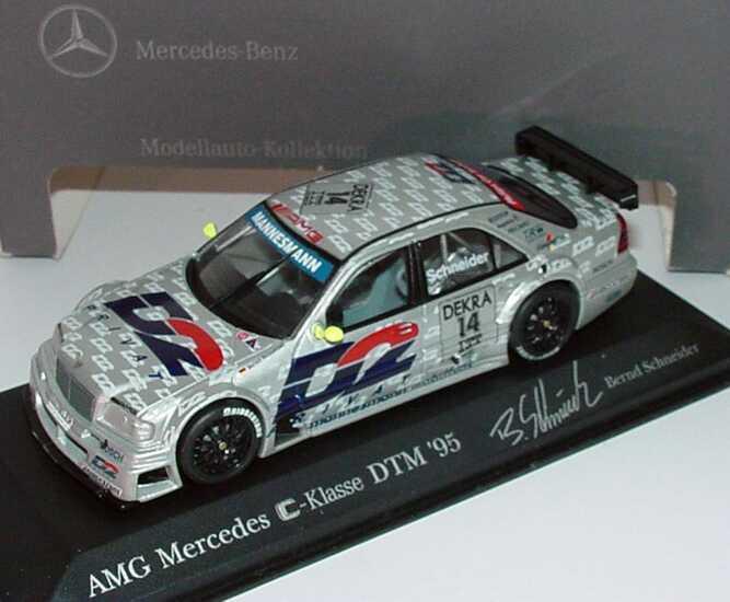 Foto 1:43 Mercedes-Benz C 180 DTM 1995 AMG, D2 Privat Nr.14, Schneider Werbemodell Minichamps B66005018