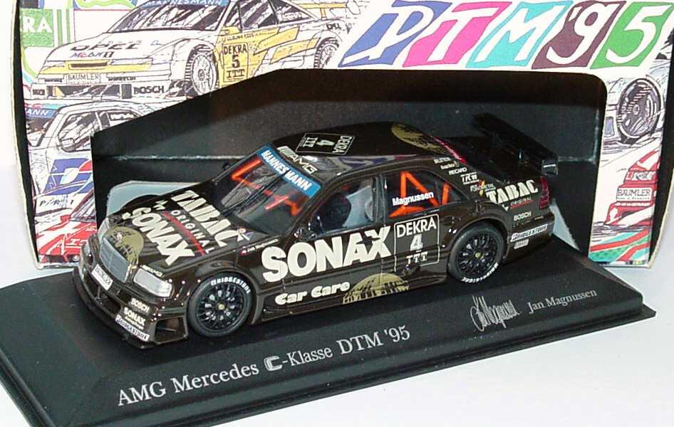Foto 1:43 Mercedes-Benz C 180 DTM 1995 AMG, Tabac/Sonax Nr.4, Magnussen Minichamps 430953504