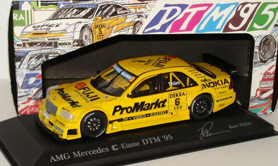 Foto 1:43 Mercedes-Benz C 180 DTM 1995 Zakspeed, ProMarkt Nr.6, Kurt Thiim Minichamps 430953506