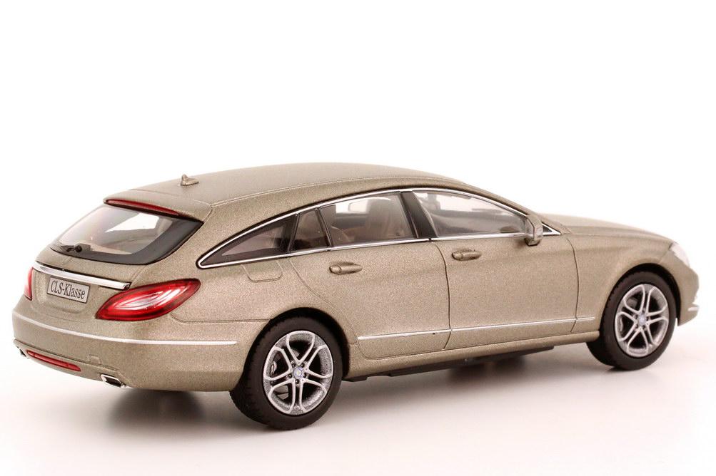 Foto 1:43 Mercedes-Benz CLS Shooting Brake (X218) manganit-grau-magno Werbemodell Norev B66960114