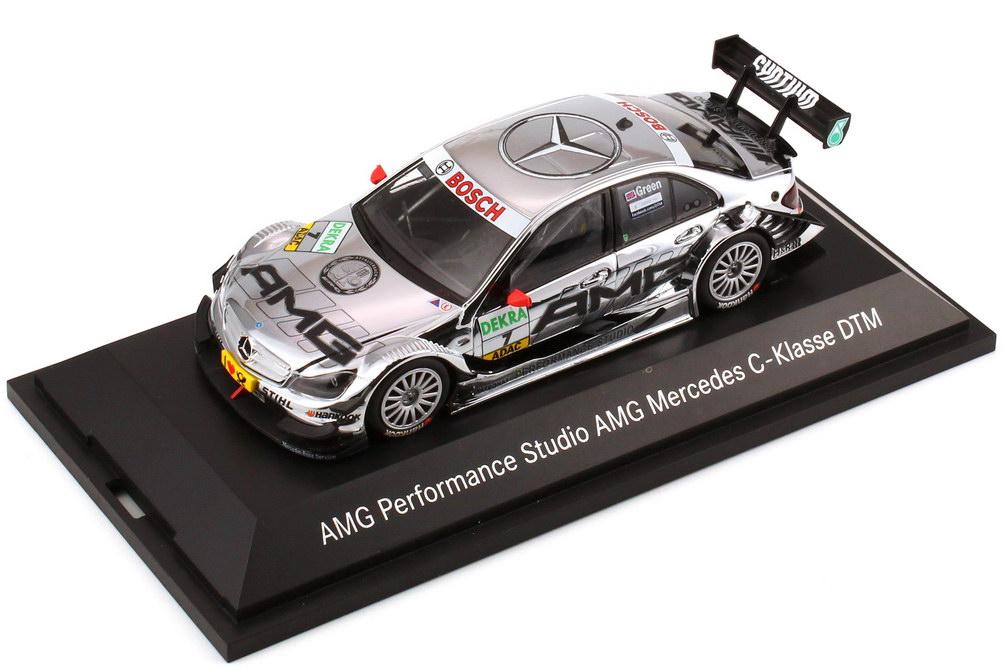 Foto 1:43 Mercedes-Benz C-Klasse (W204 MOPF) DTM 2011 AMG Performance Studio Nr.7,  Jamie Green Werbemodell Minichamps B66960137