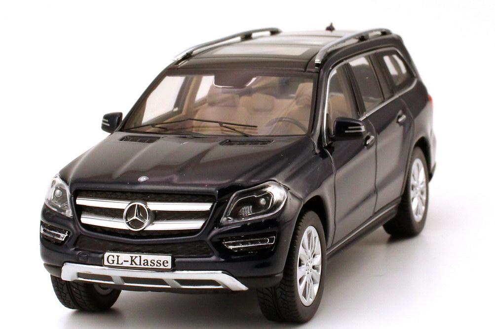 Foto 1:43 Mercedes-Benz GL-Klasse 2012 (X166) cavansit-blau-met. Werbemodell Norev B66960095