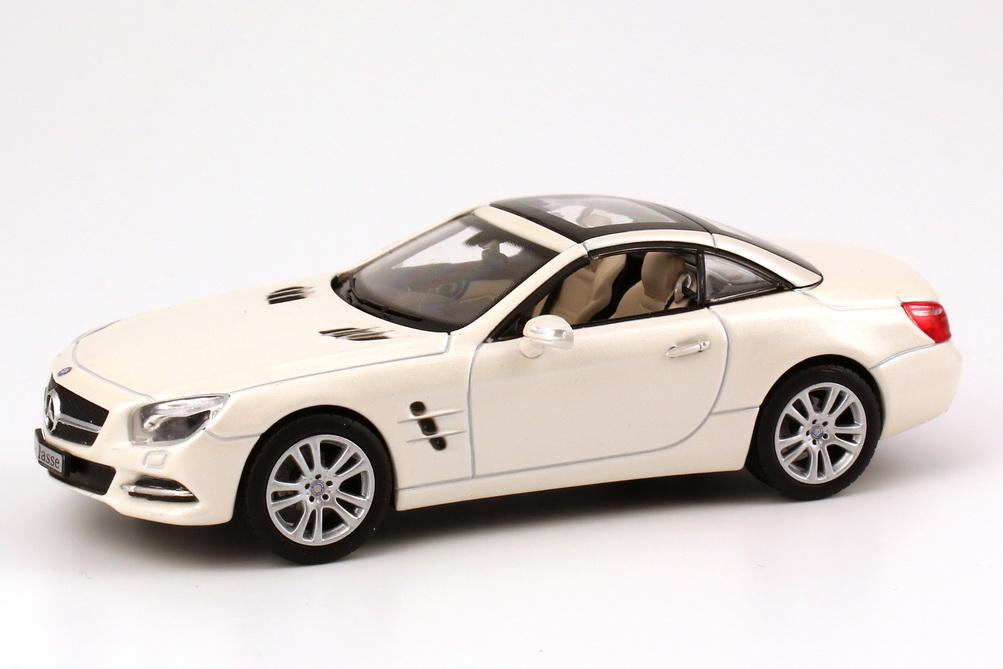 Foto 1:43 Mercedes-Benz SL-Klasse 2012 (R231) diamant-weiß-met. bright Werbemodell Norev B66960104