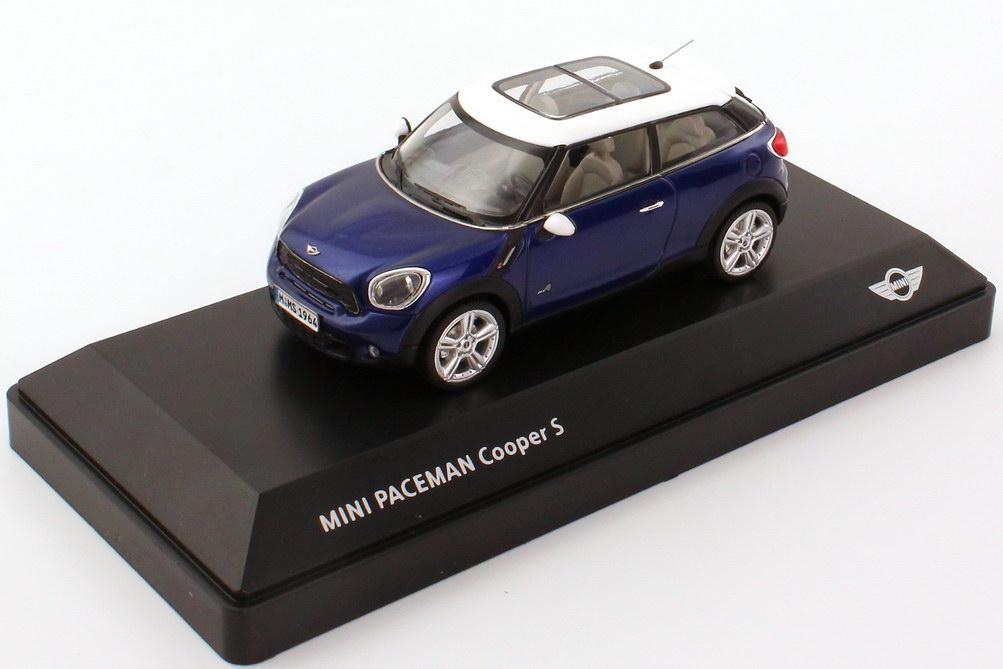 Foto 1:43 Mini Paceman Cooper S ALL4 (R61) starligh-blue-met., Dach weiß Werbemodell BMW-Group 80422318652