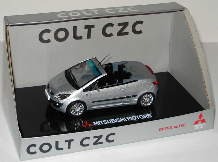 Foto 1:43 Mitsubishi Colt CZC Cabrio urban-silber-met. Werbemodell Vitesse MME50127
