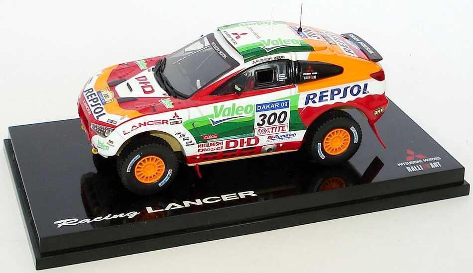 Foto 1:43 Mitsubishi Racing Lancer Rallye Dakar 2009 Repsol Nr.300 Werbemodell Vitesse MME50208