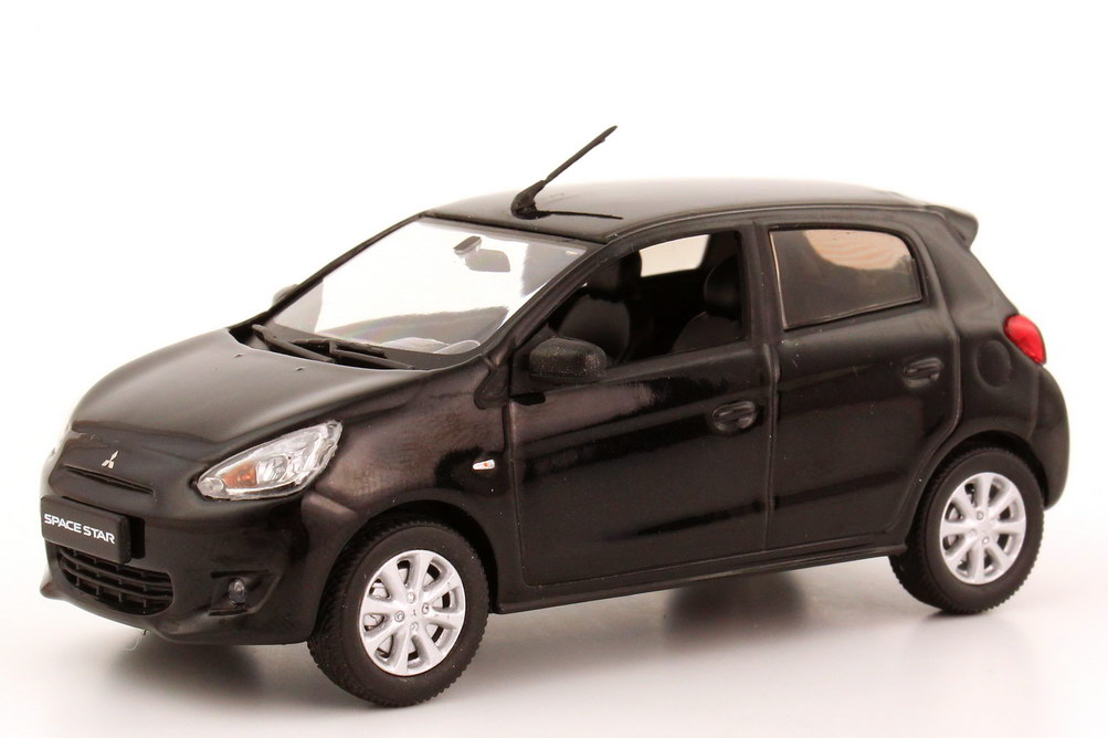 Foto 1:43 Mitsubishi Space Star 2013 magic-schwarz-met. Werbemodell Vitesse MME50555
