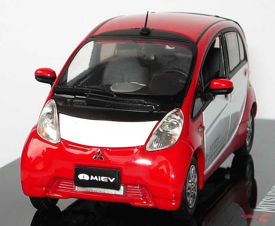 Foto 1:43 Mitsubishi i MiEV rot/weiß Werbemodell Vitesse MME50109