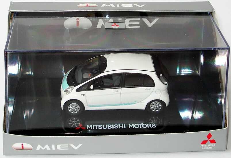 Foto 1:43 Mitsubishi i MiEV weiß/mintgrün Werbemodell Vitesse MME50218