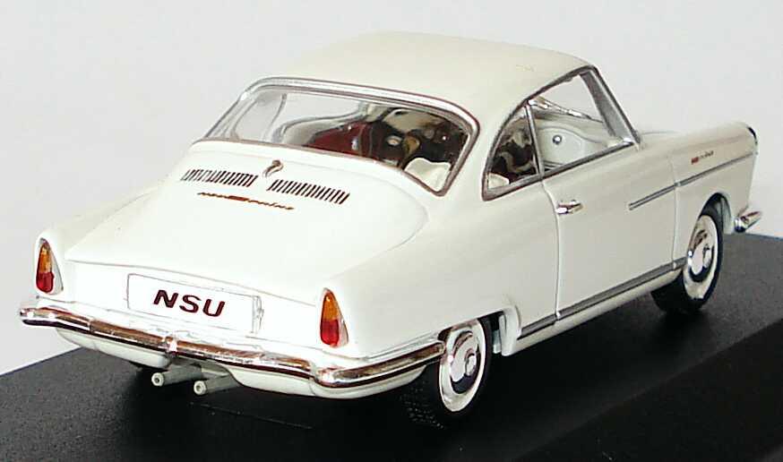 Foto 1:43 NSU Sport Prinz weiß Werbemodell Minichamps 504.02.001.23