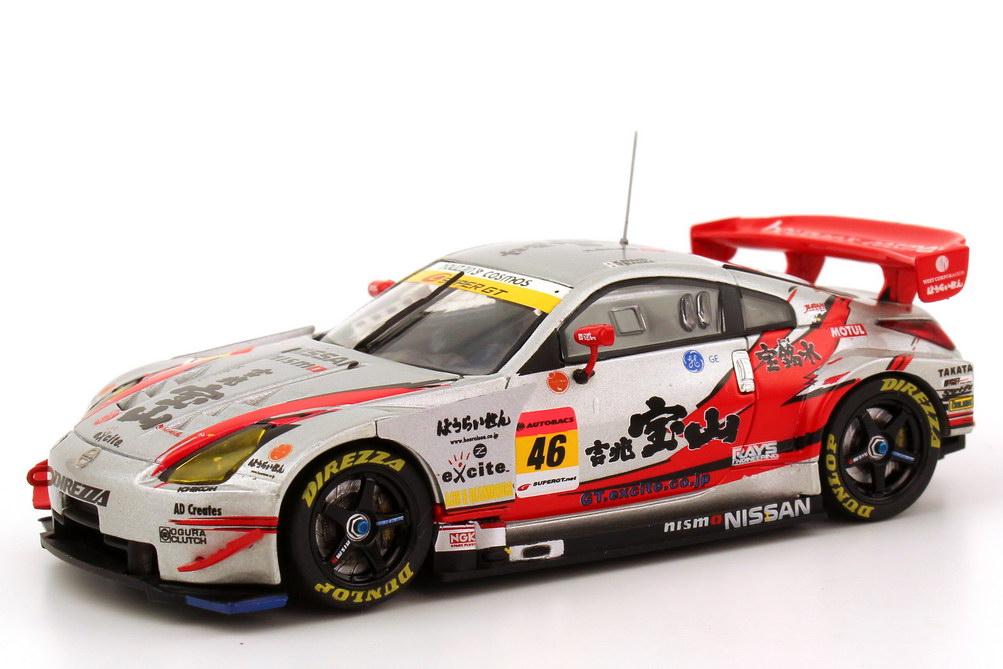 Foto 1:43 Nissan Fairlady Z / 350Z (Z33) Super GT 2006 Direzza, Kiccho Houzan Nr.46, Sasaki / Banba Ebbro 43812