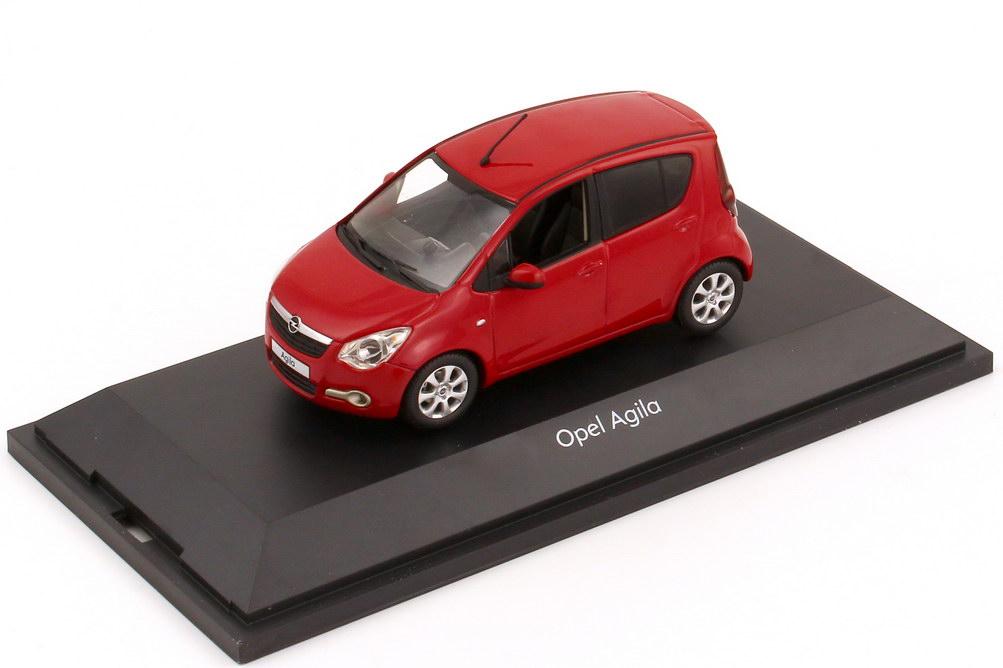 Foto 1:43 Opel Agila B glut-rot Werbemodell Schuco 1088095