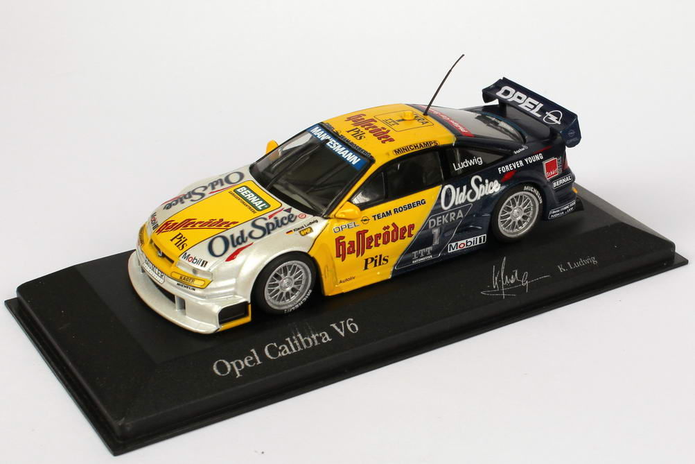 Foto 1:43 Opel Calibra V6 DTM 1995 Rosberg, Old Spice, Hasseröder Nr.1, Ludwig Minichamps 430954201