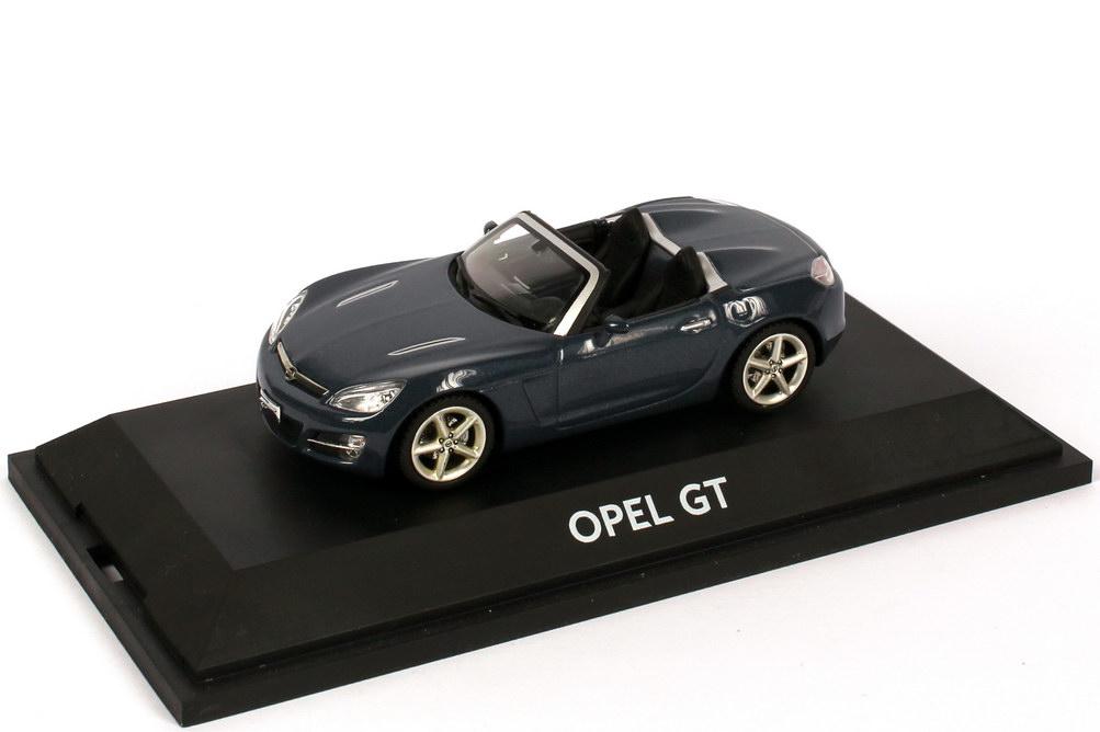 Foto 1:43 Opel GT Roadster petrol-blau-met. Werbemodell Schuco 904851181799621