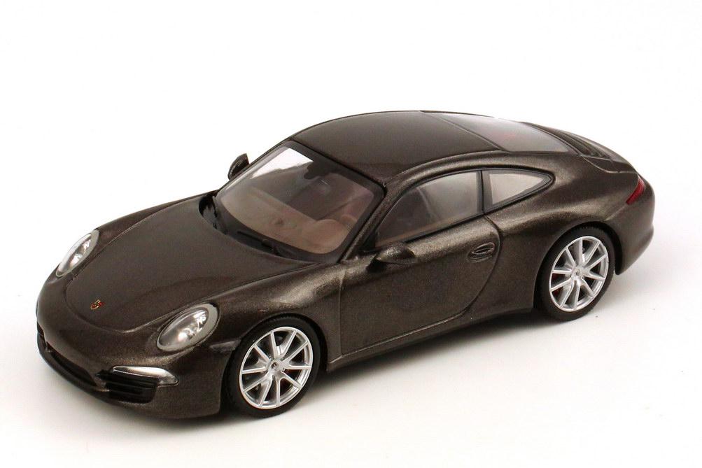 Foto 1:43 Porsche 911 Carrera 4S (991) anthrazit-braun-met. Werbemodell Minichamps WAP0201100C