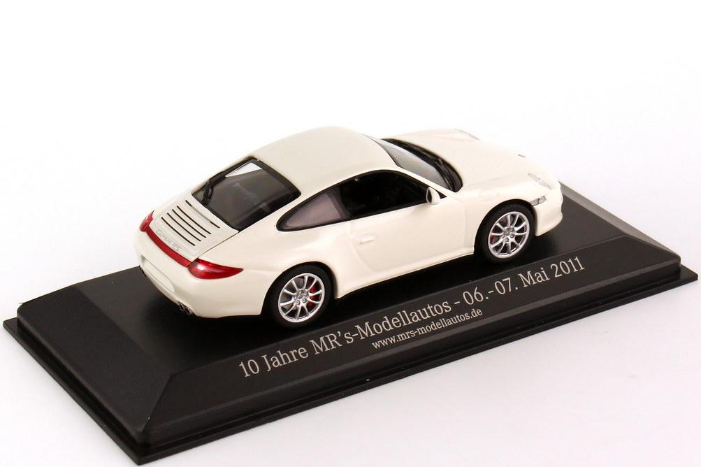 Foto 1:43 Porsche 911 Carrera 4S (997, Modell 2008) schnee-weiß 10 Jahre MR´s Modellautos (1 of 96) Minichamps