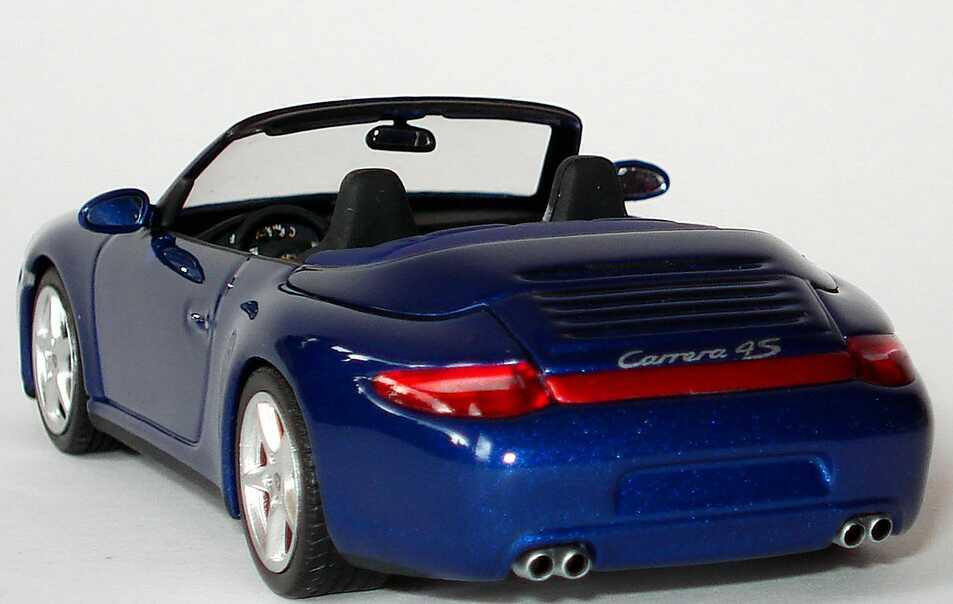 Foto 1:43 Porsche 911 Carrera 4S Cabrio (997, Modell 2009) aquablau-met. Werbemodell Minichamps WAP02001818