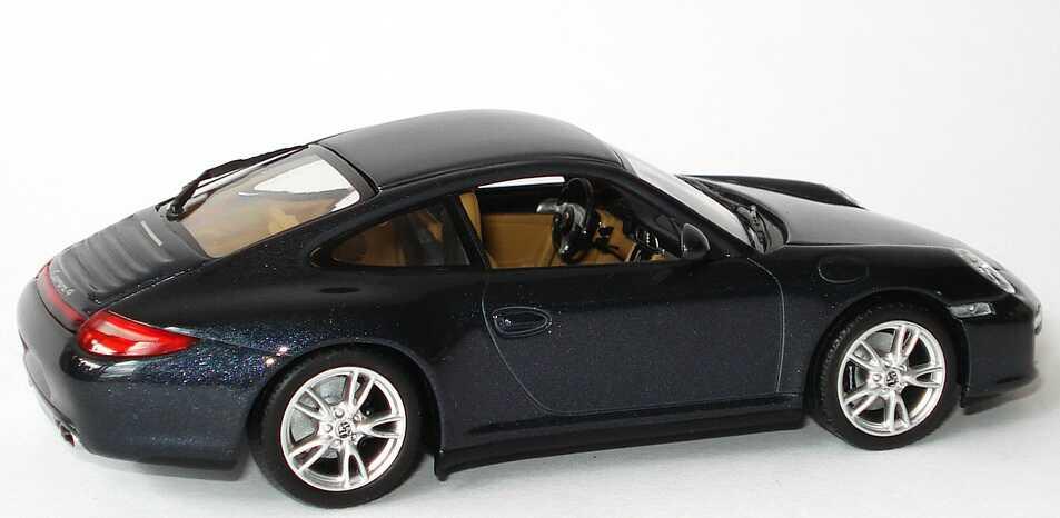 Foto 1:43 Porsche 911 Carrera 4 (997, Modell 2009) atlasgrau-met. Werbemodell Minichamps WAP02001518