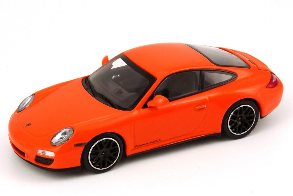 Foto 1:43 Porsche 911 Carrera 4 GTS (997, Modell 2011) pastell-orange Werbemodell Minichamps WAP0201140C