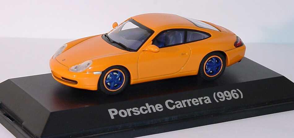 Foto 1:43 Porsche 911 Carrera (996) orange Modell Fahrzeug Schuco