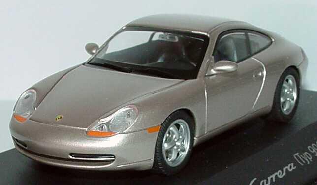 Foto 1:43 Porsche 911 Carrera (996) rauchsilber-met. Werbemodell Schuco WAP02004897