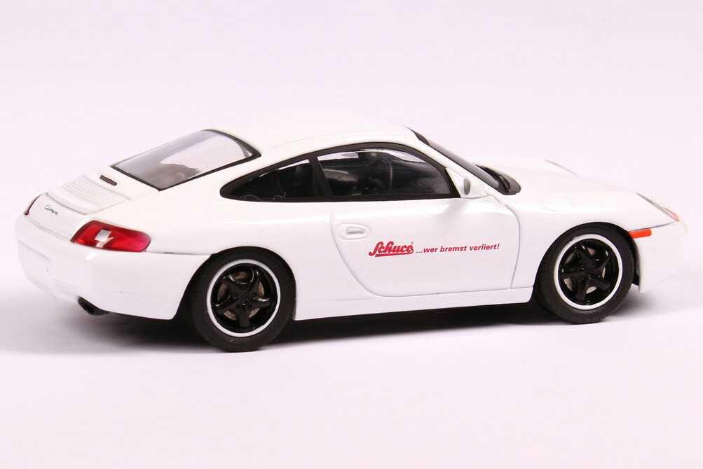 Foto 1:43 Porsche 911 Carrera (996) weiß Schuco... wer bremst verliert! Schuco