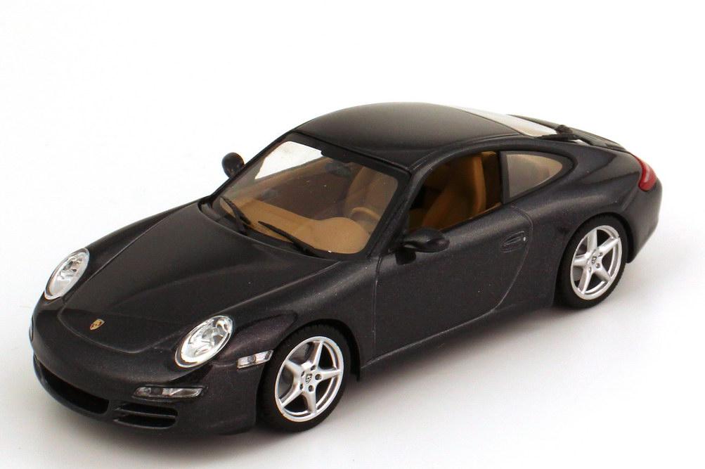 Foto 1:43 Porsche 911 Carrera (997) basalt-schwarz-met. Werbemodell Minichamps WAP02011515