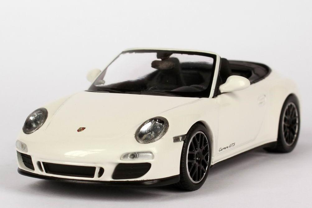 Foto 1:43 Porsche 911 Carrera GTS Cabriolet (997, Modell 2011) carrara-weiß Werbemodell Minichamps WAP0200210B