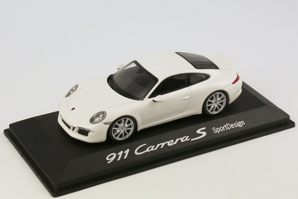 Foto 1:43 Porsche 911 Carrera S SportDesign (991) carrera-weiß Werbemodell Minichamps WAP0201140D
