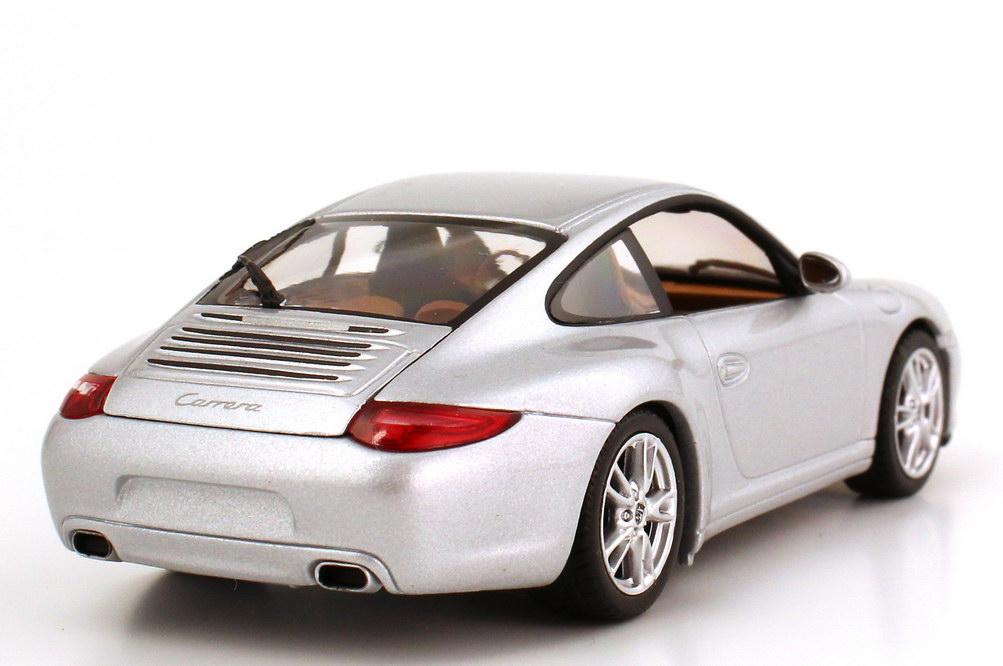 Foto 1:43 Porsche 911 Carrera (Typ 997, Modell 2009) gt-silber-met. Werbemodell Minichamps WAP02001218