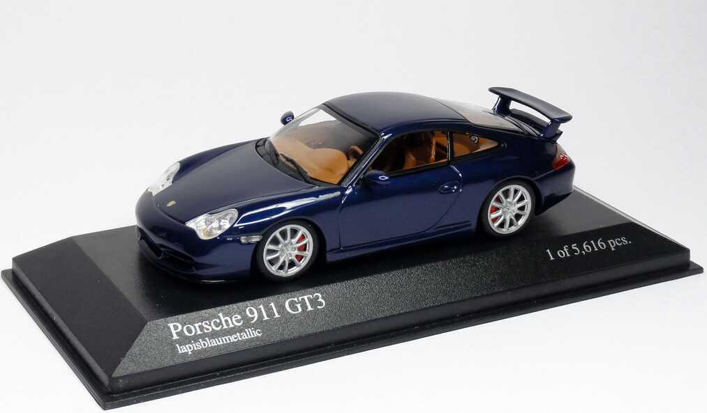 Foto 1:43 Porsche 911 GT3 (996) lapisblau-met. Minichamps 400062021