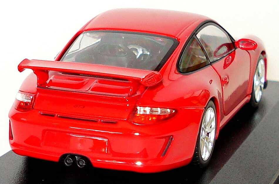 Foto 1:43 Porsche 911 GT3 (997, Modell 2009) indischrot Werbemodell Minichamps WAP02001619