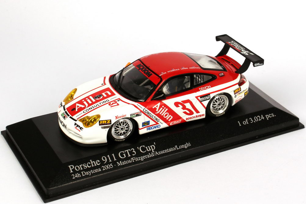 Foto 1:43 Porsche 911 GT3 Cup (996) 24h Daytona 2005 Ajilon Nr.37, Matos / Fitzgerald / Assentato / Longhi Minichamps 400056237