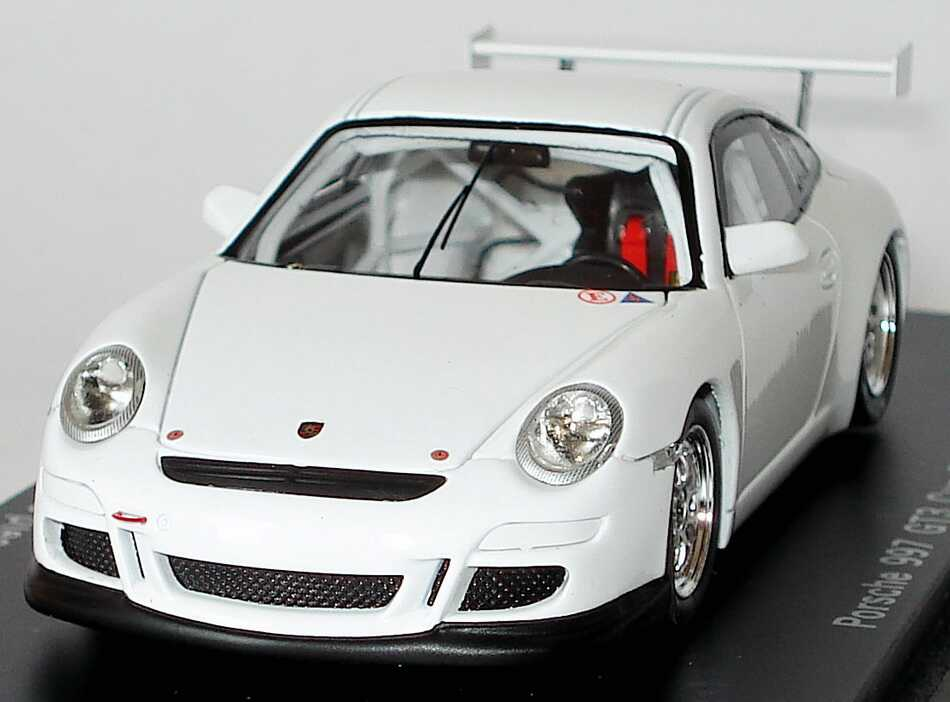 Foto 1:43 Porsche 911 GT3 Cup (997, Modell 2009) Plain Body weiß (Limited Edition, 1 of 200) Spark