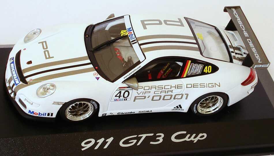 Foto 1:43 Porsche 911 GT3 Cup (997) Porsche Mobil1 Supercup 2008 VIP-Car Nr.40 Werbemodell Minichamps WAP02002718
