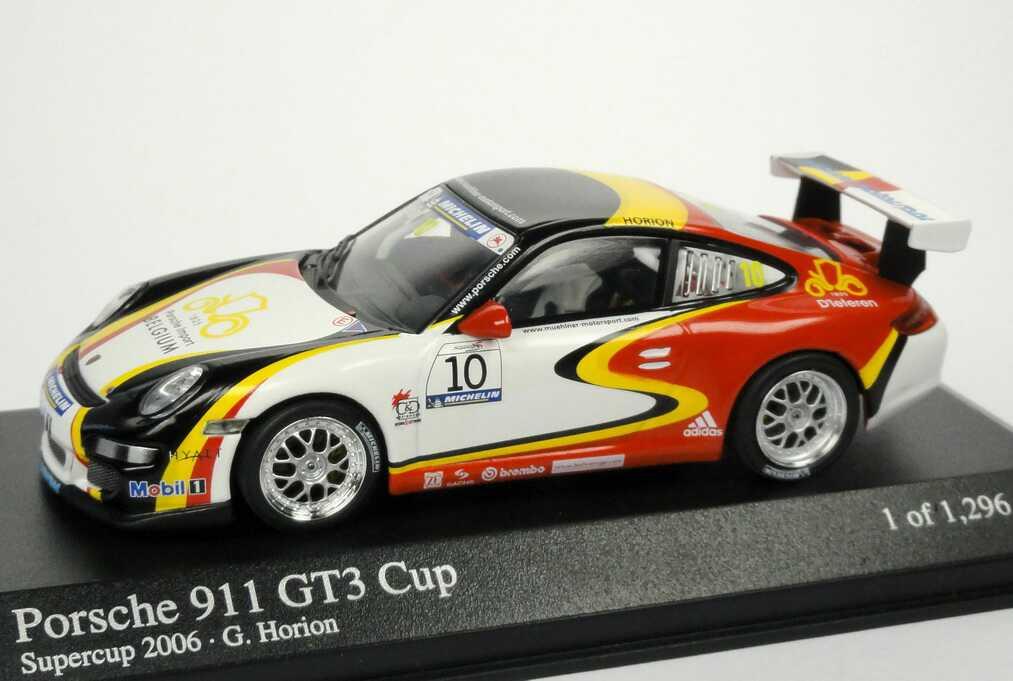 Foto 1:43 Porsche 911 GT3 Cup (997) Supercup 2006 Mühlner Motorsport, Porsche Import Belgium Nr.10, Horion Minichamps 400066410
