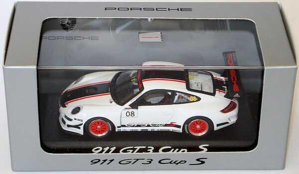 Foto 1:43 Porsche 911 GT3 Cup S (997) Promotion 2008 Nr.08 Werbemodell Minichamps WAP02002019