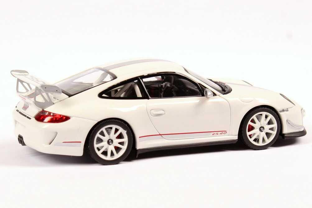 Foto 1:43 Porsche 911 GT3 RS 4.0 (997, Modell 2011) weiß Werbemodell Minichamps WAP0200010C