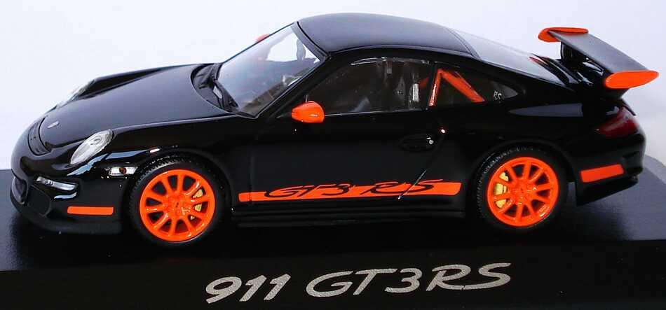 Foto 1:43 Porsche 911 GT3 RS (997) schwarz/orange Werbemodell Minichamps WAP02012817