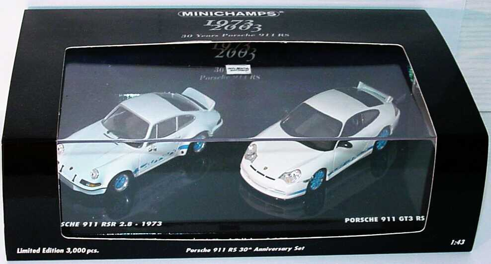 Foto 1:43 Porsche 911 RS 30th Anniversary Set (911 RSR 2.8 (1973) + 911 GT3 RS (2003)) Minichamps 402036269