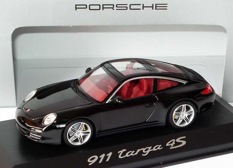 Foto 1:43 Porsche 911 Targa 4S (997, Modell 2009) basaltschwarz-met. Werbemodell Minichamps WAP02002518